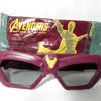 Kacamata 3D Avengers From Blitz Megaplex CGV Iron Man Superhero Rare