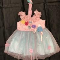 Baju dress Pesta Anak Bayi Perempuan 0 1 2 3 4 5 6 bulan dres salem