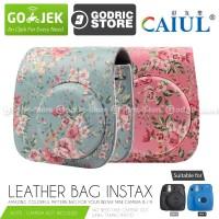 Fujifilm Leather Bag Polaroid Instax Mini 8 & 9 Tas Floral Clover Case