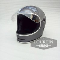 Helm Custom Classic BELL BULLIT FLAT VISOR Retro Vintage Klasik