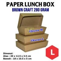 Craft Paper Lunch Box / Kotak Makan Polos Ukuran L + Laminating 1 sisi