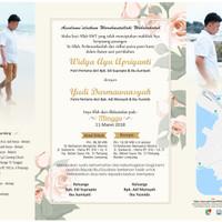 Undangan Soft Cover Lipat 3 - Mas Yudi & Mba Widya - Bandar Lampung