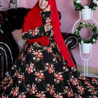 C CPNT tk1 zoya syari black red,salem baju muslim