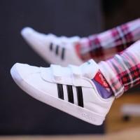 Sepatu ORIGINAL Adidas Neo VL Court leather white kids/anak/baby