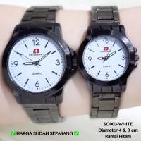 Jam tangan swiss army couple rantai motif custom grosir guess fossil