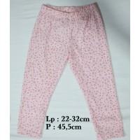 legging anak pink flower