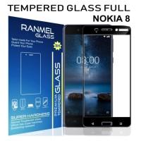 Tempered Glass Ranmel Screen Guard Nokia 8 Full Black