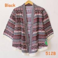TOP MODEL New cardigan kimono katun batik rumbai harajuku style motif