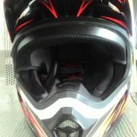 HELM YAMAHA NEW EXTREME FULL FACE RED