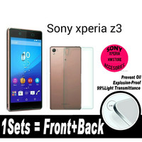 tempered glass depan belakang front back sony xperia z3