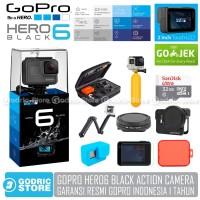 GoPro Hero 6 Paket Complete Action Camera Hero6 4K 60FPS Garansi Resmi