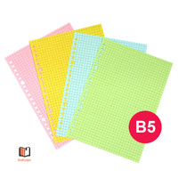 HVS Loose Leaf B5 COLOR - Dotted/ GRID BERWARNA /Kertas Binder