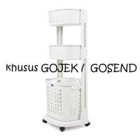 Rovega Rak Keranjang Pakaian Laundry Basket Portable RLB-300 Susun 3