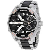 Jam Tangan DIESEL Watches GODZILLA DZ-7349 Silver Black Combi