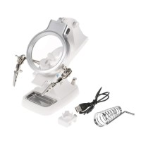 Helping Hand Magnifying Soldering Iron Stand Lens Magnifier Clamp