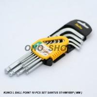 (Sale) Kunci L Ball Point 10 Pcs Set Santus ST-HM10BP ( MM )