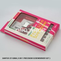(Murah) Obeng Set Santus ST-1200A ( 6 in 1 Precision Screwdriver Set )