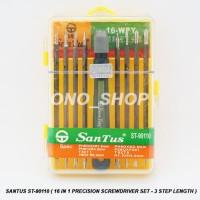 Obeng Set Santus ST-90110 ( 16 in 1 Precision Screwdriver Set )