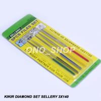 (Dijamin) Kikir Diamond Set Sellery 3 x 140 mm