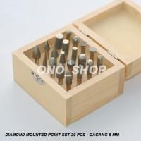 (Sale) Diamond Mounted Point Set 20 Pcs - Gagang 6 mm