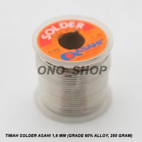 (Murah) Timah Solder Asahi 1,6 mm (Grade 60% Alloy, 250 gram)