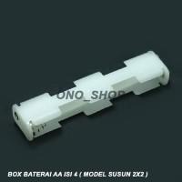 (Diskon) Box Baterai AA Isi 4 ( Model Susun 2x2 )