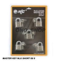 (Diskon) Gembok Master Key NLG 40 MM Short Isi 5