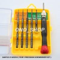 Obeng Set Santus ST-20321A ( 10 in 1 Precision Screwdriver Set )