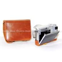 (Diskon) Nikon 1 J5 Leather Bag / Case / Tas Kulit Kamera Mirrorless