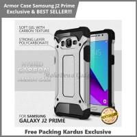 Casing HP Samsung J2 Prime Hardcase Armor Kokoh Anti Bentur Silver
