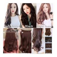 rambuat paslu, rambut panjang, rambut palsu asli, rambut buatan hitam