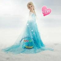 BARU BEST SELLER || Princess Elsa Frozen Diamond Dress Gaun Pesta Anak