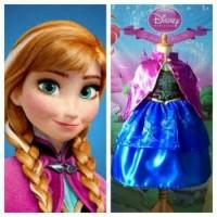 TERMURAH Kostum Anna Frozen/Baju Gaun Anak perempuan MURAH