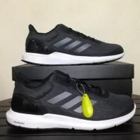 Harga dijual sepatu running lari adidas cosmic m dark grey black   Pembandingharga.com