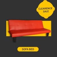 SOFA BED Merah/Hitam