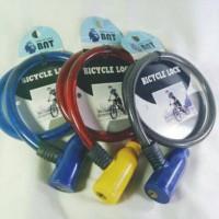 Gembok Baja Kepala Plastik Serba Guna, Helm Sepeda Pagar