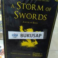 BUKU NOVEL GAME OF THRONES A STORM OF SWORDS AMUKAN BAJA TERLARIS