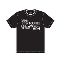 "J.EZRA T-Shirt Kaos Size XL Unisex  ""HiDef"" White on Black"