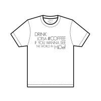 "J.EZRA T-Shirt Kaos Size XL Unisex  ""HiDef"" Black on White"