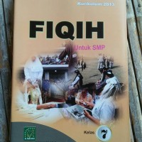 Buku pelajaran fiqih untuk kelas 7 mts/smp TOko Buku Aswaja Surabaya
