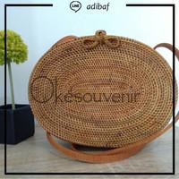 Jual Tas rotan oval asli lombok, rattan bag original Murah