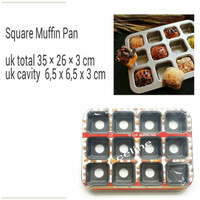 Jual Loyang Pan Square Muffin Murah