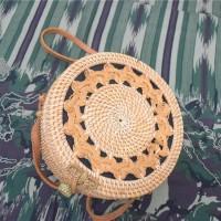 Jual Tas Rotan Anyam satu sisi 20 cm   rattan bag asli lombok bali murah Murah