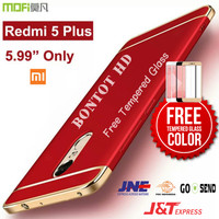 Xiaomi Redmi 5 Plus Hardcase Case + TEMPERED GLASS COLOR FULL LAYAR HP