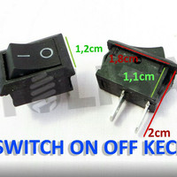 Saklar Switch On Off kecil / Saklar On off Kaki 2 Hitam