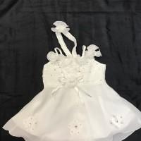 Baju Pesta Anak Bayi Perempuan 0 1 2 3 4 5 6 bulan gaun dres putih