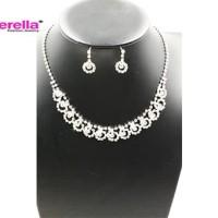 Set Perhiasan Pesta / Kalung Anting Pesta /Kalung Set Pengantin Grosir