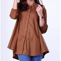 Baju casual wanita/Busana Muslim WanitaGarsel FWN 0270 COKLAT