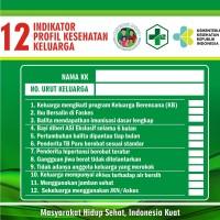 Stiker PIS PK / Pendataan Prokesga 12 Indikator