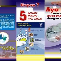 Leaflet / Brosur Etika Etika Batuk dan Cuci Tangan Pakai Sabun